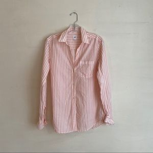 GAP BASIC SOFT STRIPED LONG SLEEVE BUTTON DOWN
